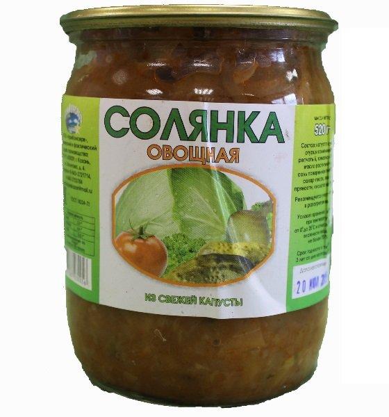 овощная солянка из свежей капусты